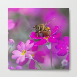 Buzzy Bee Metal Print