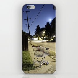 Displaced shopping carriage. iPhone Skin