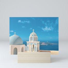 Santroini Grrece Mini Art Print