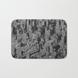 The Fantasy City. Urban Landscape Illustration. Bath Mat