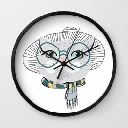 Style & fashion cat Wall Clock