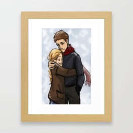 Chaol and Celaena3 Framed Art Print