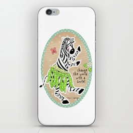 Change the World with a Smile iPhone Skin