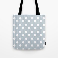 BlueGray Lined Polka Dot Tote Bag