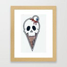 """""""SkullScream Cone"""" Framed Art Print"""