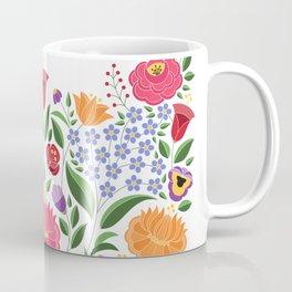 Hungarian folk pattern – Kalocsa embroidery flowers Coffee Mug