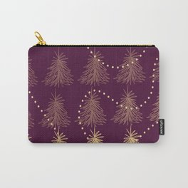 Fading Trees red Carry-All Pouch
