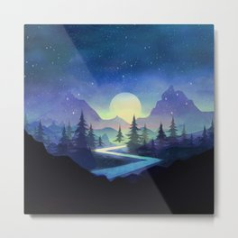 Touching the Stars Metal Print