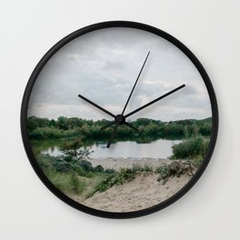 Dune lake just before a storm | Nature travel photography | The Netherlands Wall Clock