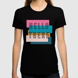 'Hello there' retro graphic design T-shirt