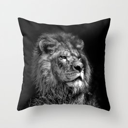 Proud Young Lion Throw Pillow