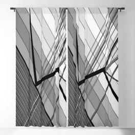 Gray Geometry 2 Blackout Curtain