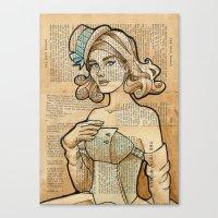 hallion Canvas Prints featuring Iron Woman 7 by Karen Hallion Illustrations