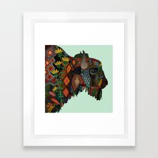 bison mint Framed Art Print