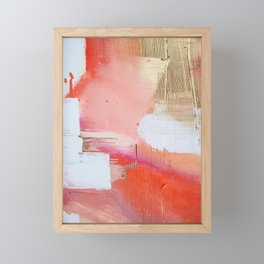 Moving Mountains: a minimal, abstract piece in reds and gold by Alyssa Hamilton Art Framed Mini Art Print
