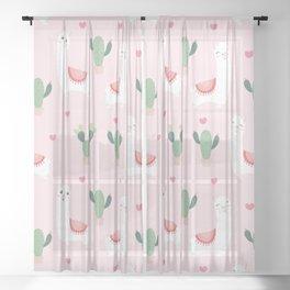 Cute Alpacca's Sheer Curtain