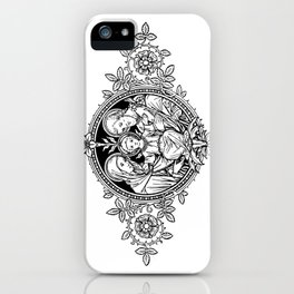Holy Family [Black] - white bkg iPhone Case