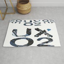 Retro UXO2//abstract modern contemporary Rug