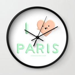 I Heart Paris I Love Paris Wall Clock