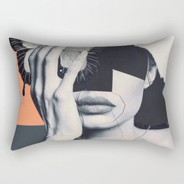 collage art / butterfly Rectangular Pillow