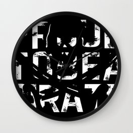 Proud to be a Pirate Wall Clock