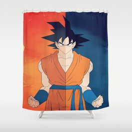 Minimalistic Goku Shower Curtain