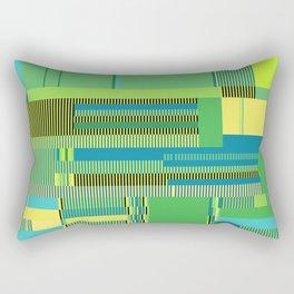 Scandinavian Moon (Parrot Colours) Rectangular Pillow