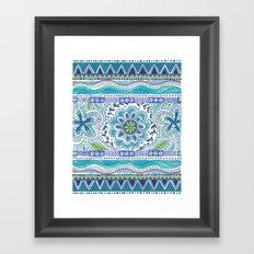 Boho Blue Framed Art Print