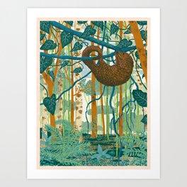 Pangolin Forest Art Print