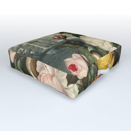Pink  Red Floral : New Illustration Of The Sexual System Outdoor Floor Cushion
