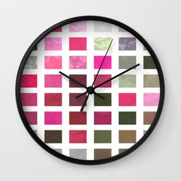 Crape Myrtle Abstract Rectangles 2 Wall Clock