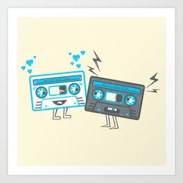 Mixed-Up Tapes Art Print