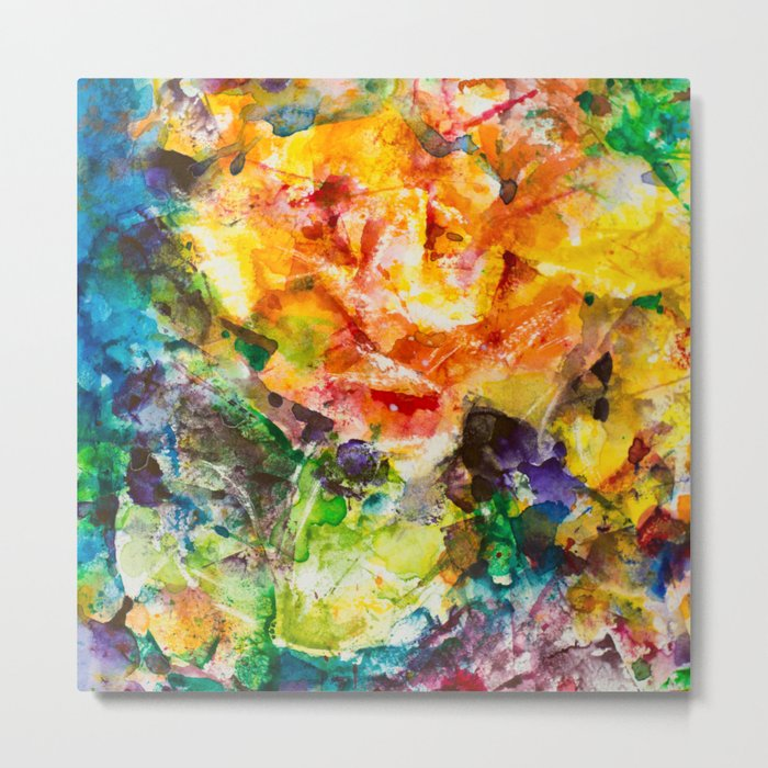 Abstract roses Metal Print