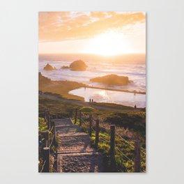 Sunset At Sutro Baths - San Francisco, CA Canvas Print