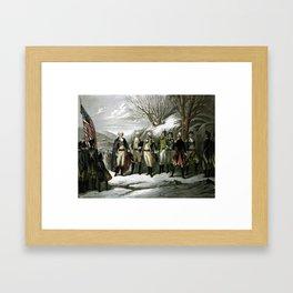 Washington and His Generals Framed Art Print