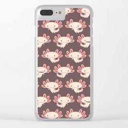 Cute axolotls Clear iPhone Case