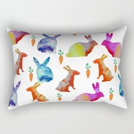 Rabbits Joy Rectangular Pillow