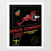 cowboy bebop Art Prints featuring NES Cowboy Bebop by IF ONLY