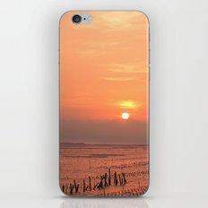 Beautiful Sunset at Cigu Bay in Southern Taiwan iPhone Skin
