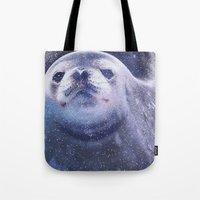 seal Tote Bags featuring Seal by Asya Solo