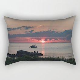 Sunset on the rocks Rectangular Pillow