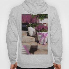 Blooming Calluna vulgaris or heather Hoody
