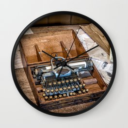 Blickensderfer Typewriter Wall Clock