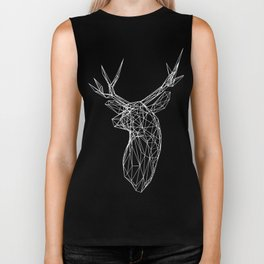 3D Stag Trophey Head Wire Frame Biker Tank