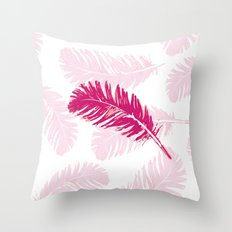 Pink feather Throw Pillow