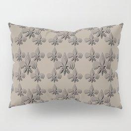 Nola fleur de lis triple brown Pillow Sham