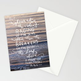 Mightier Than These  |  Psalm 93:4 Stationery Cards