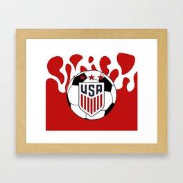 United States Soccer Framed Art Print