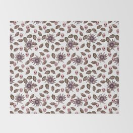 floral macabre Throw Blanket