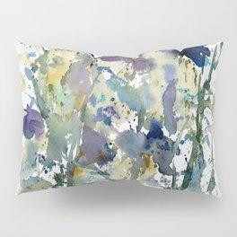 Iris Garden watercolor painting Pillow Sham